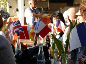 Flags at the Louisendorf BBQ