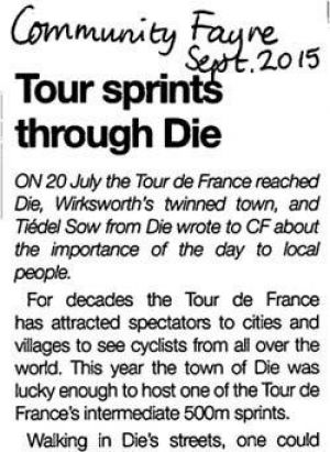 Tiedel Tour de France article